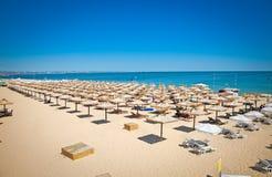 Vista panorâmica na praia de Varna em Bulgária. fotografia de stock royalty free