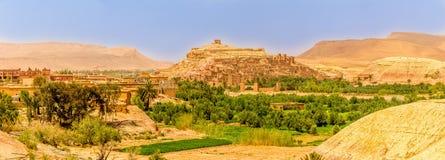 Vista panorâmica na vila de Ait Benhaddou - Marrocos Foto de Stock