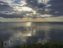 Vista panorâmica nicaraguense do lago do cais de Moyogalpa imagens de stock