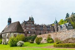 Vista panorâmica no castelo Emmerthal Foto de Stock
