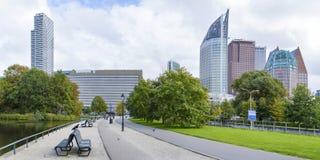 Vista panorâmica no centro da cidade de Den Haag fotografia de stock royalty free
