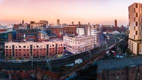 Vista panorâmica Reino Unido de Manchester Imagem de Stock