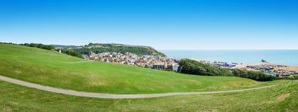 Vista panorâmica sobre Hastings Reino Unido imagem de stock