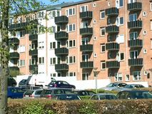 Vista panorâmica sobre Silkeborg, Dinamarca Fotografia de Stock