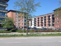 Vista panorâmica sobre Silkeborg, Dinamarca Imagem de Stock Royalty Free
