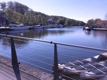 Vista panorâmica sobre Silkeborg, Dinamarca Fotografia de Stock Royalty Free