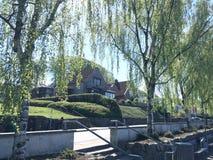 Vista panorâmica sobre Silkeborg, Dinamarca Foto de Stock