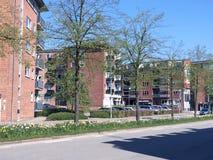 Vista panorâmica sobre Silkeborg, Dinamarca Imagens de Stock