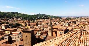 Vista panorâmico da Bolonha foto de stock