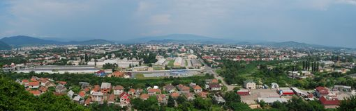 Vista panorâmico da cidade Fotografia de Stock Royalty Free