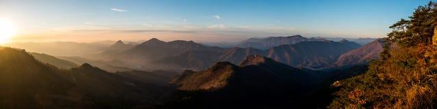 Vista panorâmico das montanhas Foto de Stock Royalty Free