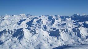Vista panorâmico de alpes franceses Foto de Stock
