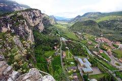 Vista panorâmico de Arco (Trentino, Norte-Italy) Foto de Stock Royalty Free