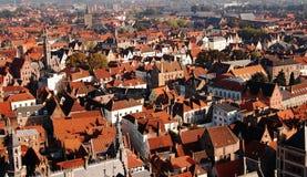 Vista panorâmico de Bruges da torre, Bélgica Fotos de Stock