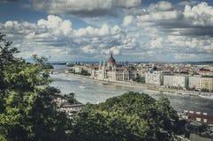 Vista panorâmico de Budapest foto de stock