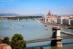 Vista panorâmico de Budapest Foto de Stock Royalty Free