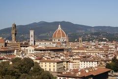 Vista panorâmico de Florença Fotografia de Stock