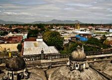 Vista panorâmico de Leon, Nicarágua fotografia de stock