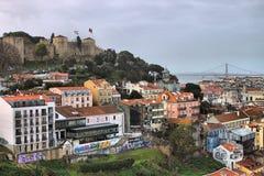 Vista panorâmico de Lisboa Fotografia de Stock Royalty Free