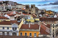 Vista panorâmico de Lisboa Imagens de Stock Royalty Free