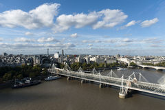 Vista panorâmico de Londres Fotografia de Stock Royalty Free