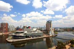 Vista panorâmico de Manchester, Reino Unido Fotografia de Stock Royalty Free