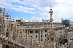 Vista panorâmico de Milão, Italy fotografia de stock royalty free