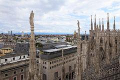 Vista panorâmico de Milão, Italy Foto de Stock Royalty Free