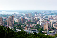 Vista panorâmico de Montreal Fotos de Stock Royalty Free