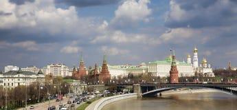 Vista panorâmico de Moscovo Kremlin Fotos de Stock Royalty Free
