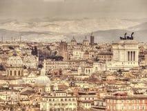Vista panorâmico de Roma Imagens de Stock