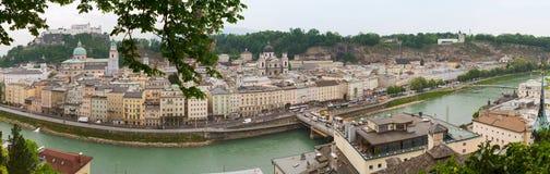 Vista panorâmico de Salzburg, Áustria Imagens de Stock Royalty Free