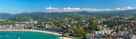 Vista panorâmico de San Sebastian imagem de stock