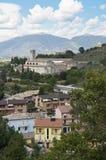 Vista panorâmico de Spoleto. Úmbria. fotografia de stock