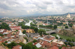 Vista panorâmico de Tbilisi imagens de stock