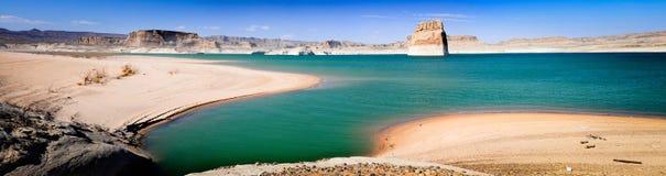 Vista panorâmico do lago Powell Imagem de Stock