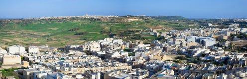 Vista panorâmico do país de Malta fotografia de stock