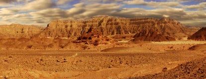 Vista panorâmico no deserto de Arava. foto de stock royalty free