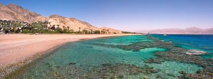 Vista panorâmico no Mar Vermelho. fotografia de stock royalty free