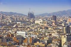 Vista panor?mica de Barcelona imagenes de archivo