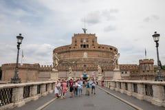 Vista panor?mica do exterior de Castel Sant ' Angelo (mausol?u de Hadrian) imagem de stock