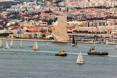 Vista panor?mica sobre Lisboa imagens de stock royalty free