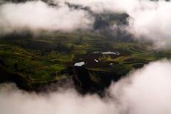 Vista panoramica aerea al canyon di Colca, Chivay, Arequipa, Perù fotografia stock
