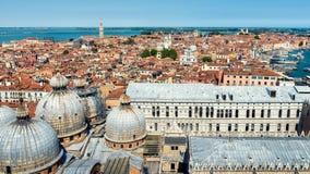Vista panoramica aerea di Venezia, Italia Fotografia Stock Libera da Diritti