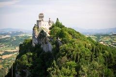 Vista panoramica al castello del San Marino Fotografia Stock