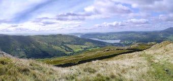 Vista panoramica al luccio di Wansfell e di Ambleside Fotografie Stock Libere da Diritti