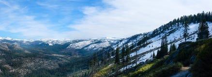 Vista panoramica al punto del ghiacciaio Fotografia Stock