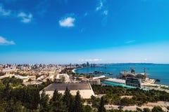 Vista panoramica alla città di Bacu Immagine Stock Libera da Diritti