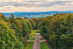 Vista panoramica da Hermannsdenkmal immagine stock