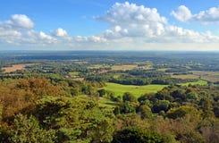 Vista panoramica da Leith Hill attraverso i bassi del sud a Brighto Fotografia Stock Libera da Diritti